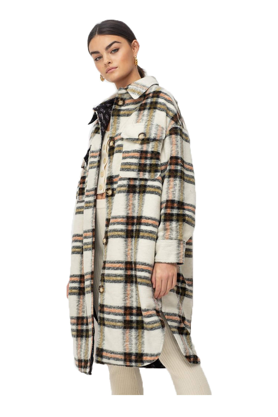Ducie London Exclusive Check Oversize Shirt Long from The New Trend