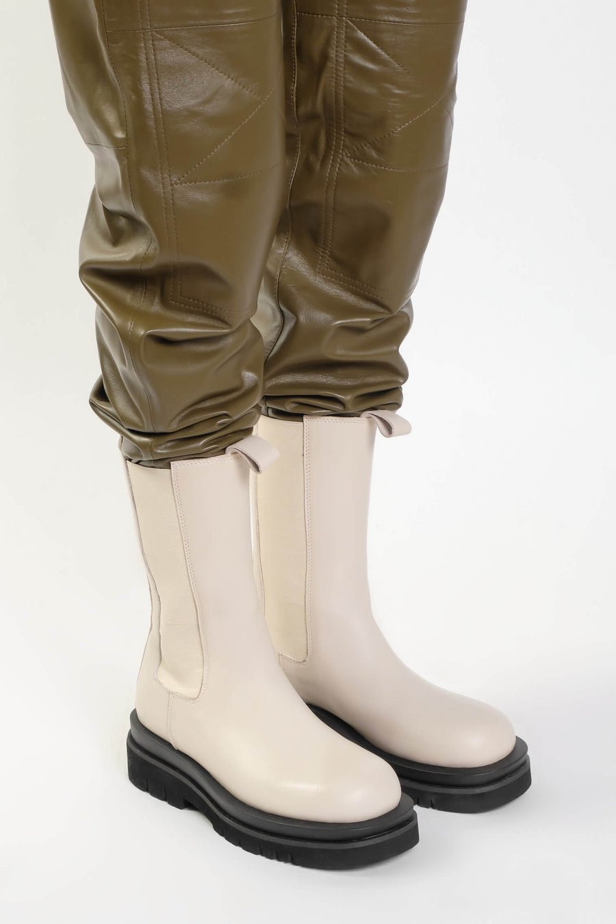 Ducie London Kendall Short Boot in Stone from The New Trend