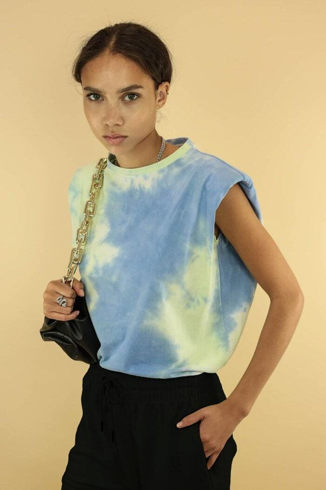 Ducie London Saskia Tee Green Tie Dye from The New Trend