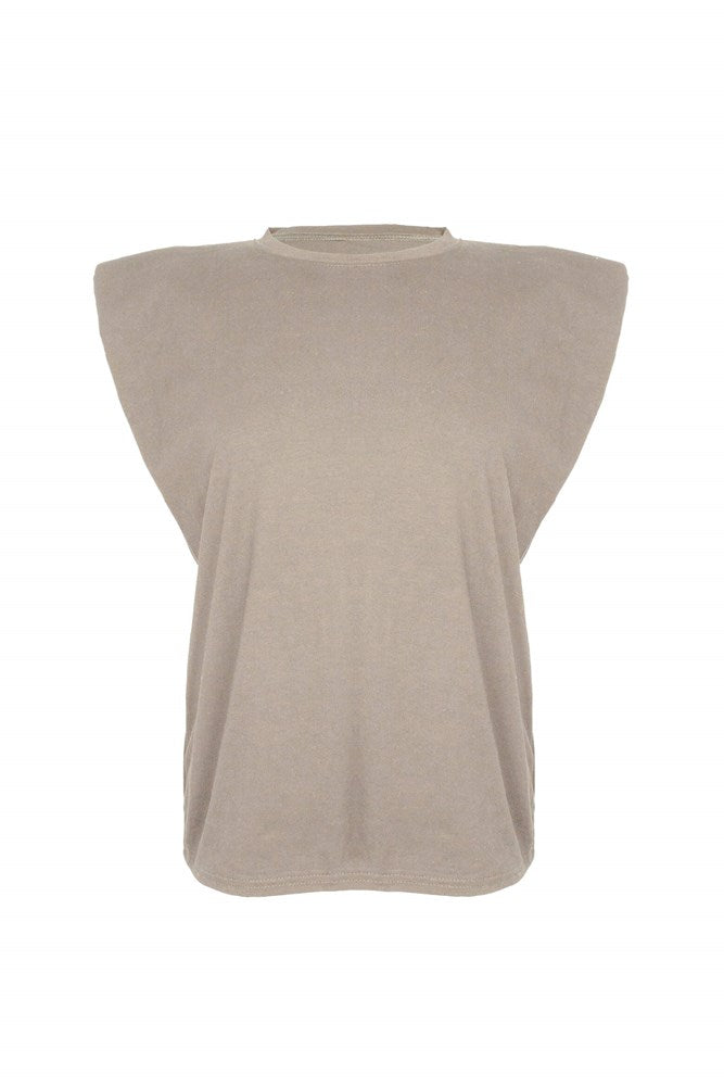 Ducie London Saskia Tee in Taupe from The New Trend