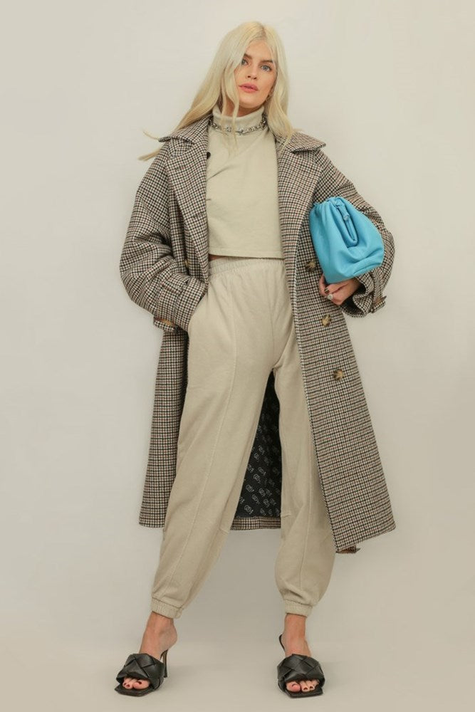 Ducie Tamara Wool Mix Check Trench from The New Trend