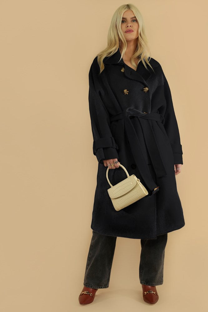 Ducie London x TNT exclusive Tamara Wool Trench in Black from The New Trend