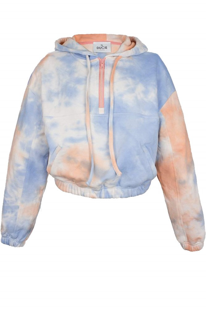 Ducie London Trinity Hoodie in Candyfloss from The New Trend