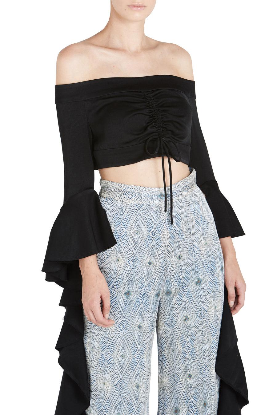 HIGH NOON FRILL SLV CROP