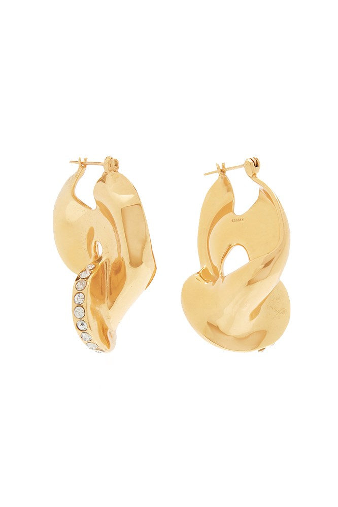LOCKE PAVE LIQUID EARRINGS