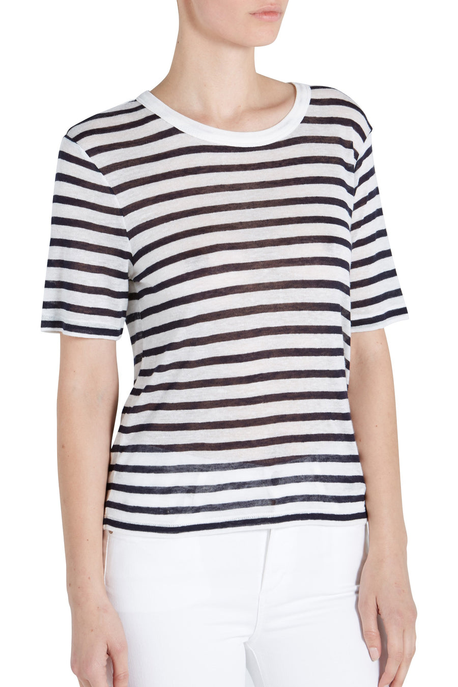 STRIPED JERSEY CROP TEE