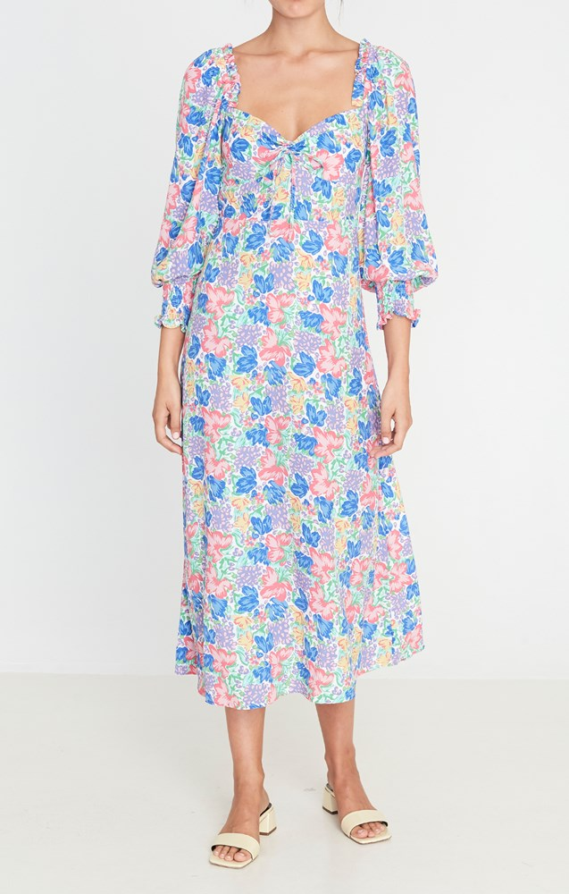 Faithfull The Brand Mathilde Midi Dress in Jemima Floral from The New Trend