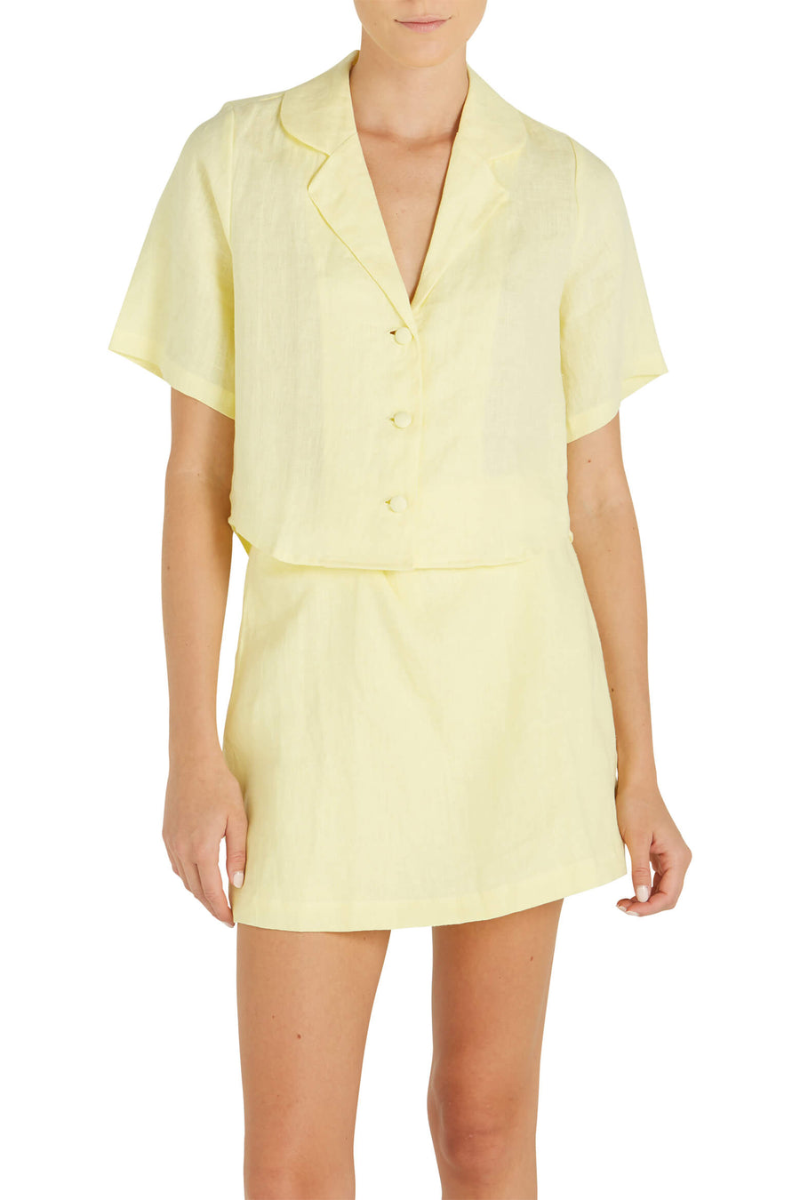 Faithfull The Brand Chaumont Shirt in Yellow at The New Trend