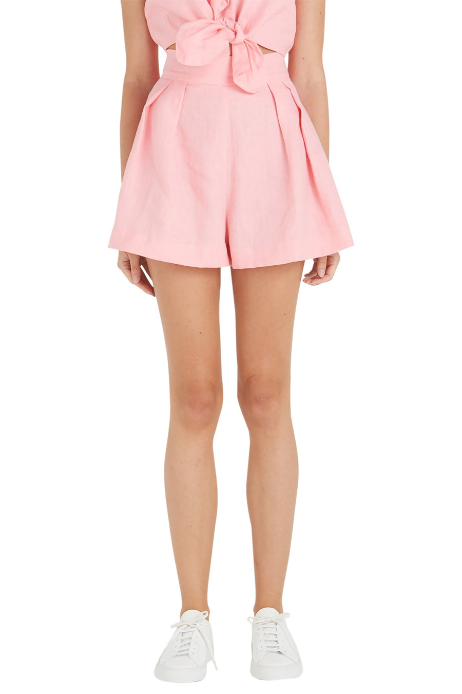 Faithfull The Brand Ondine Shorts in Plain Rose The New Trend