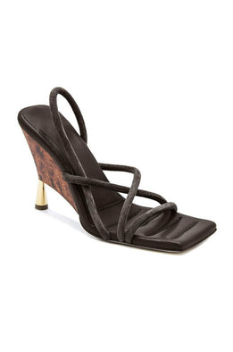GIA/RHW Strappy Open Toe Sandal in Brown Stone from The New Trend