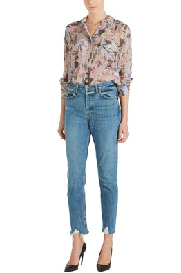 GRLFRND Karolina High Rise Skinny in Forget Me Never from The New Trend Styled