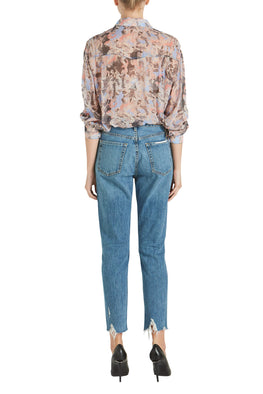 GRLFRND Karolina High Rise Skinny in Forget Me Never from The New Trend Back