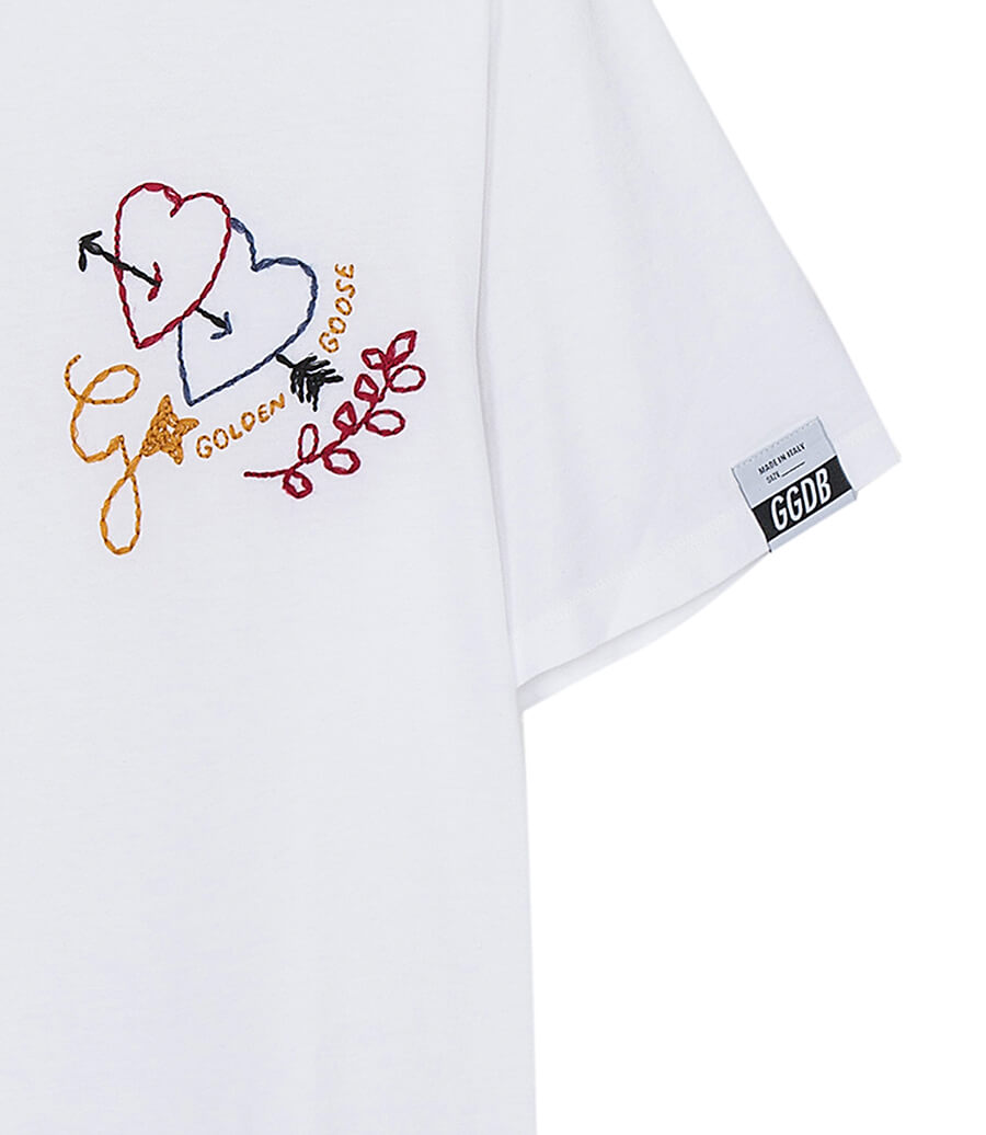 Golden Goose Aira Boyfriend T-Shirt Arrow Heart available at The New Trend