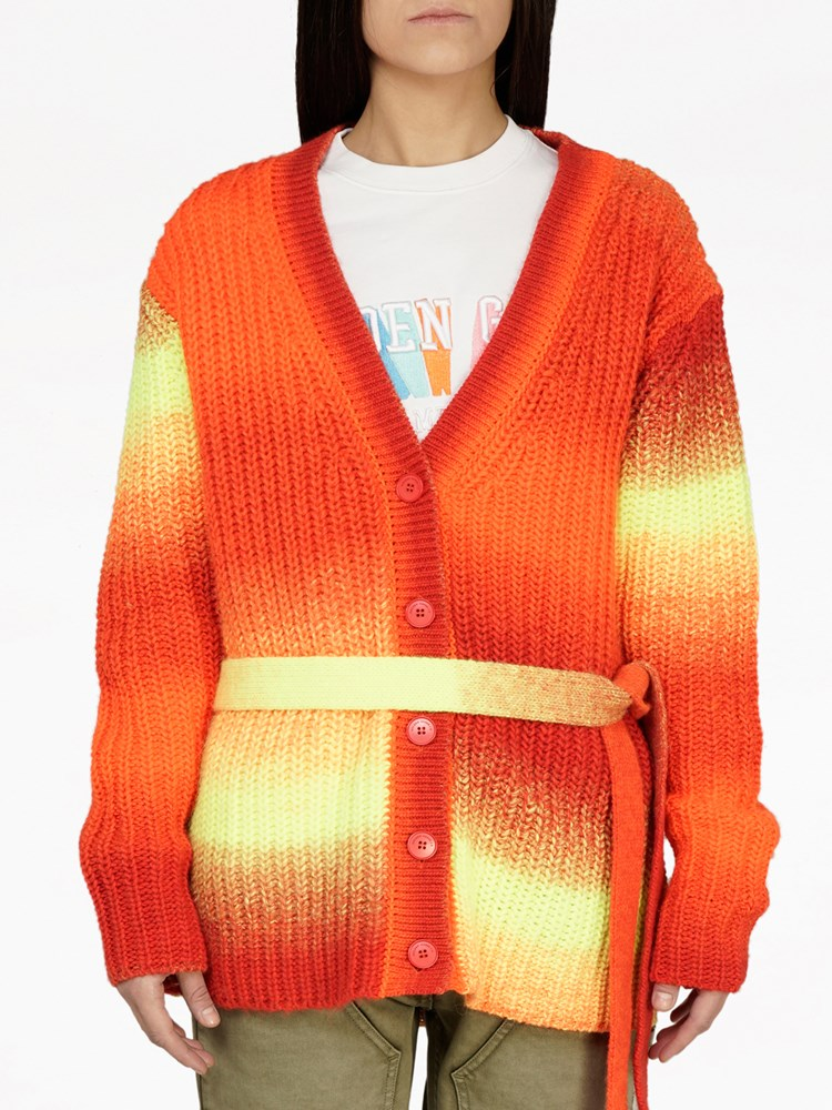Golden Goose Annavera Cardigan in Orange Tiger from The New Trend