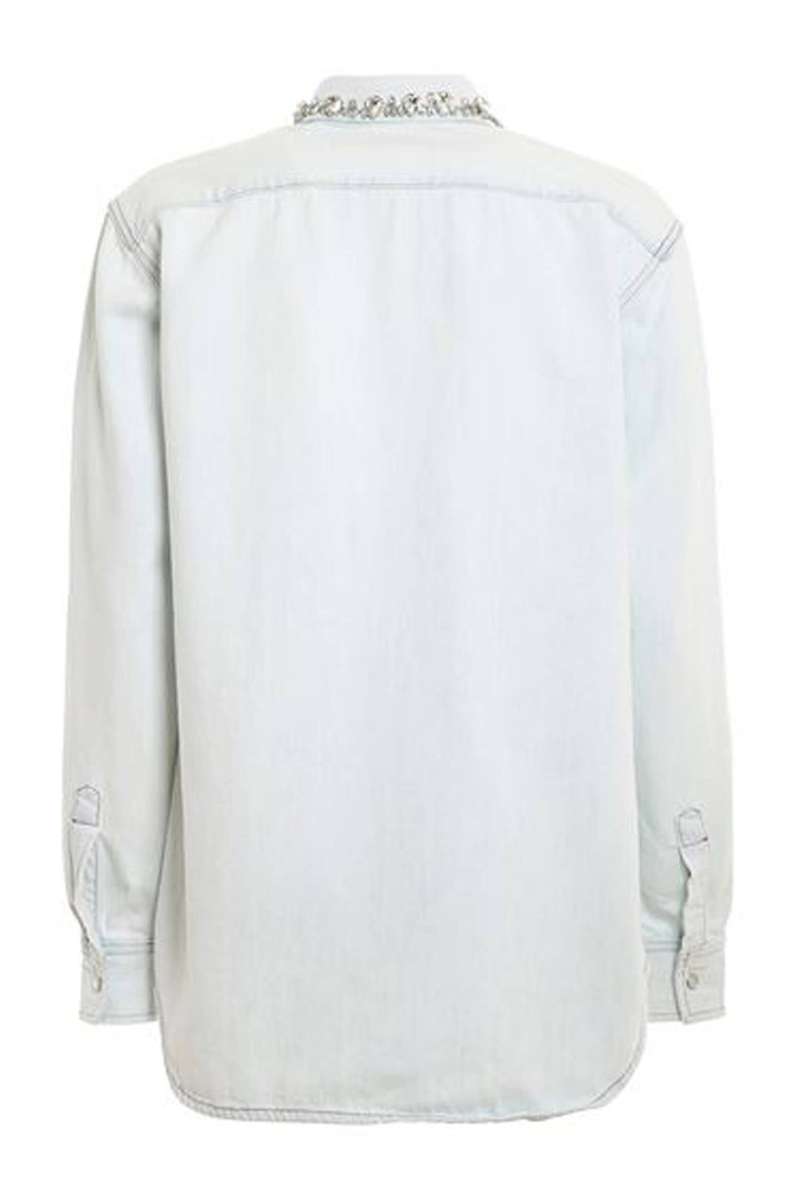 Golden Goose Becca Boyfriend Shirt in Blue from The New Trend