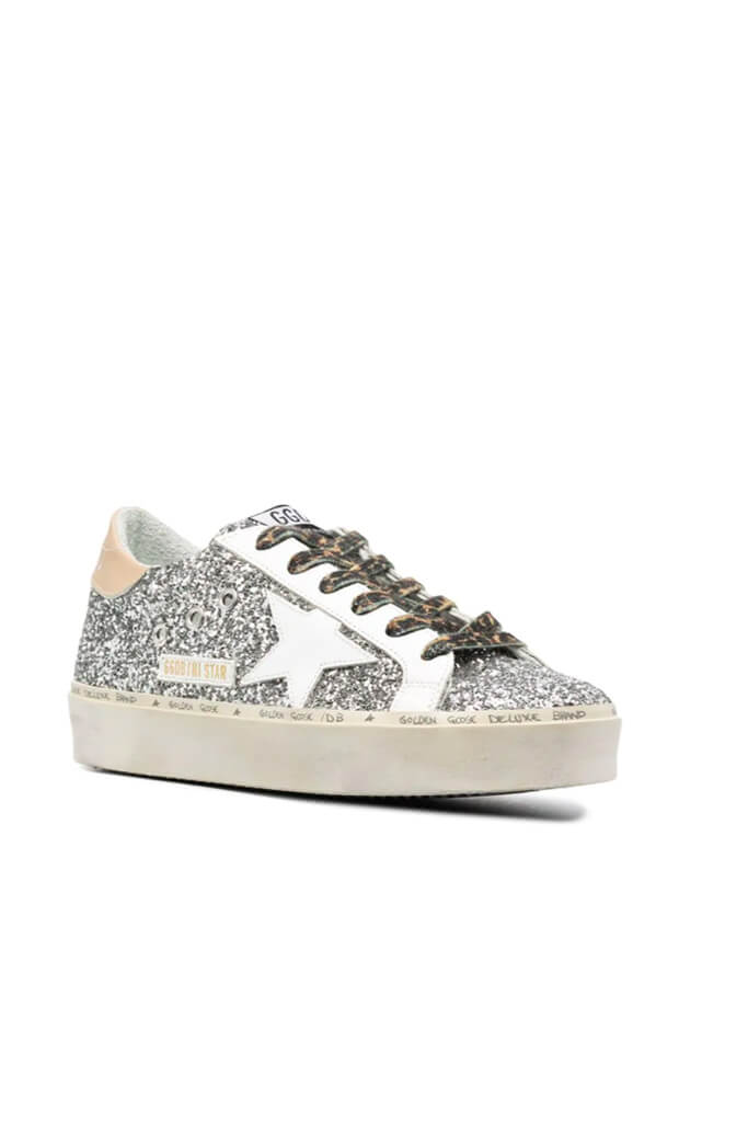 Golden Goose Hi Star Glitter Sneakers available at The New Trend