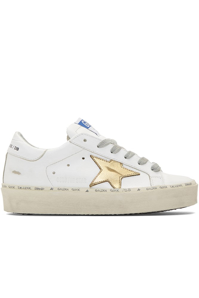 Golden Goose Hi Star Trainers White Gold from The New Trend