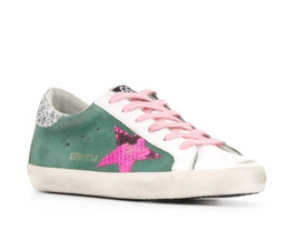 Golden Goose Superstar Sneakers Green Fuschia Python from The New Trend
