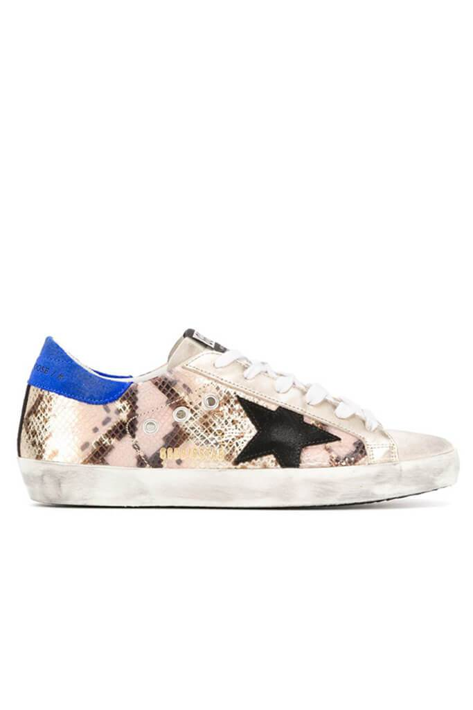 Golden Goose Superstar Sneakers Python Black Star from The New Trend