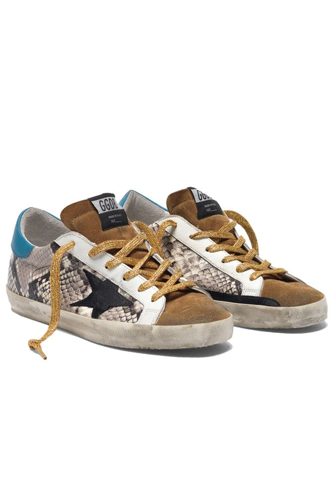 Golden Goose Superstar Sneakers in Rock Snake Black Star from The New Trend