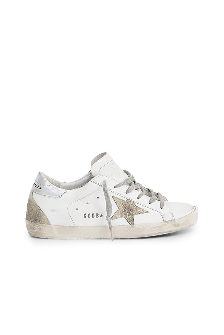 Golden Goose Superstar Sneakers in White Ice Silver from The New Trend