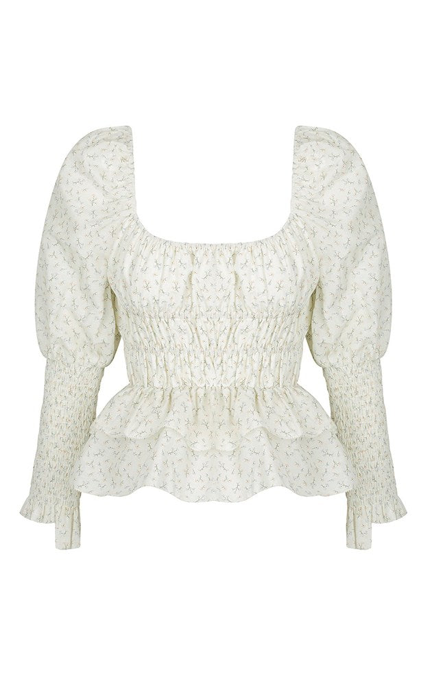 Hansen & Gretel Callista three quarter sleeve summer top in Fiore Floral print from The New Trend