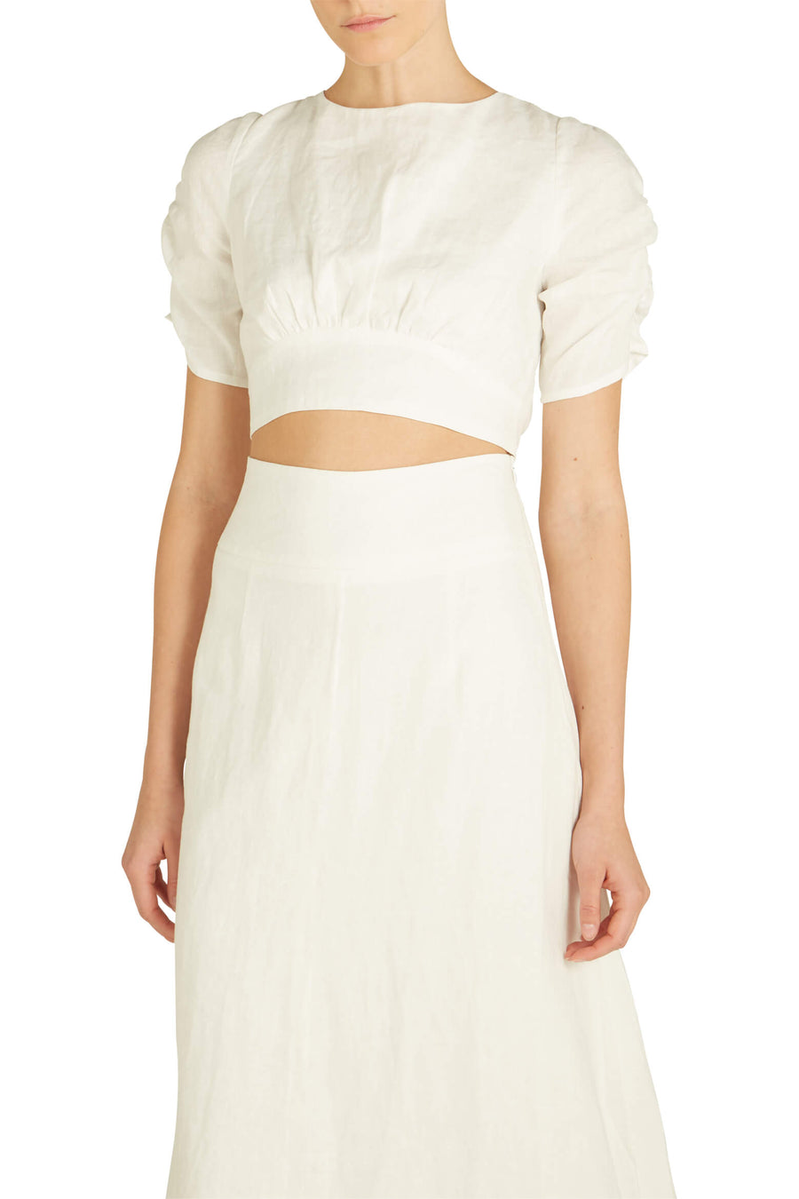 Hansen & Gretel Maddy Top in white from The New Trend