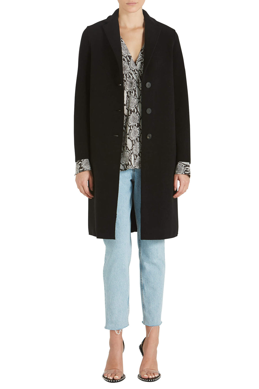 Harris Wharf London Woman Overcoat Polaire from The New Trend Cropped