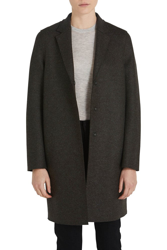 Harris Wharf London Woman Cocoon Coat Pressed Wool from The New Trend