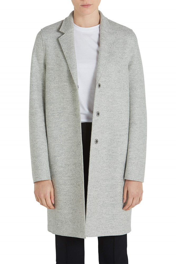 Harris Wharf London Cocoon Coat Pressed Wool in Ash Mouline from The New Trend