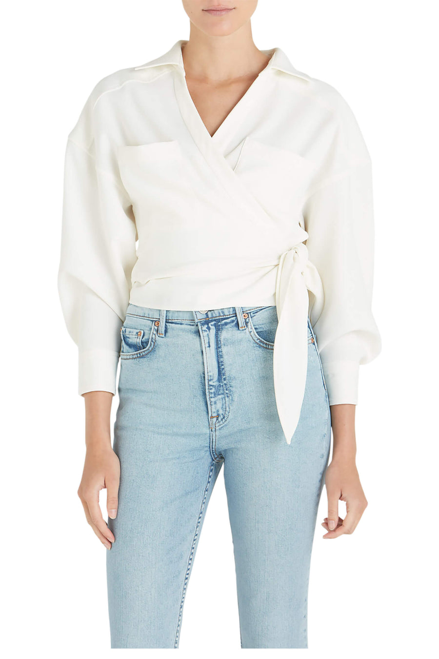 IRO Fiorila Wrap Top White from The New Trend
