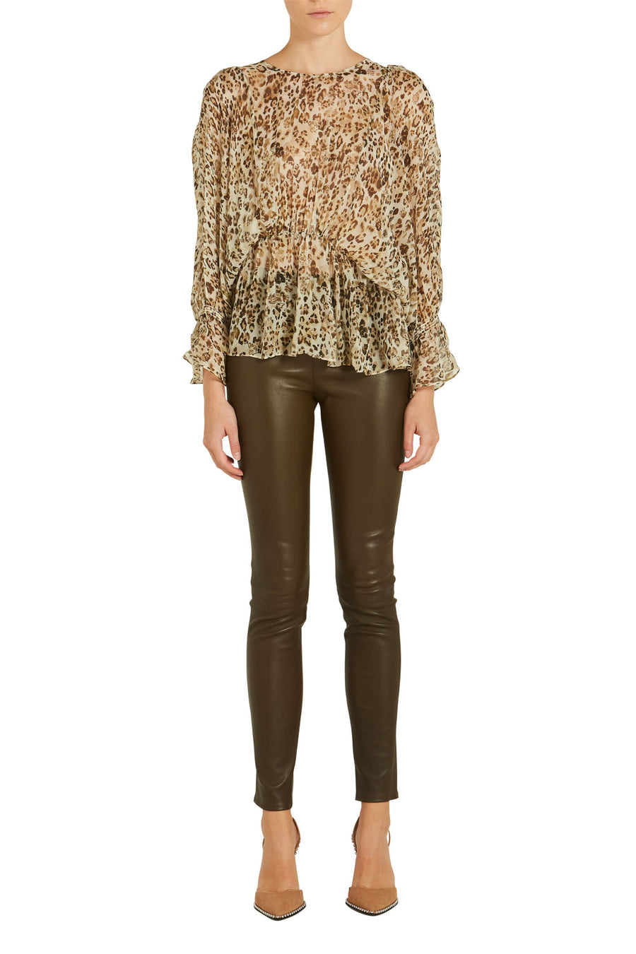 Helmut Lang Leather Legging from The New Trend
