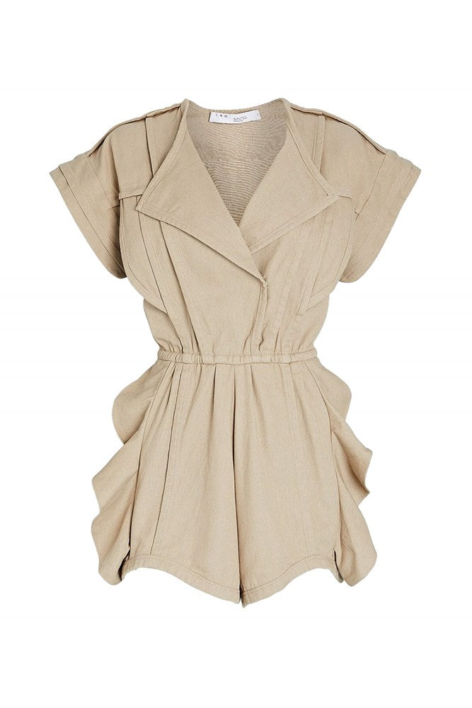Iro Olno Playsuit in Beige from The New Trend