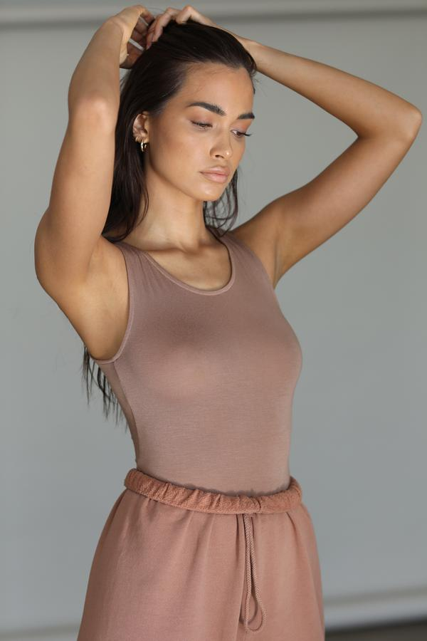 Joah Brown Bare Tank in Sienna from The New Trend