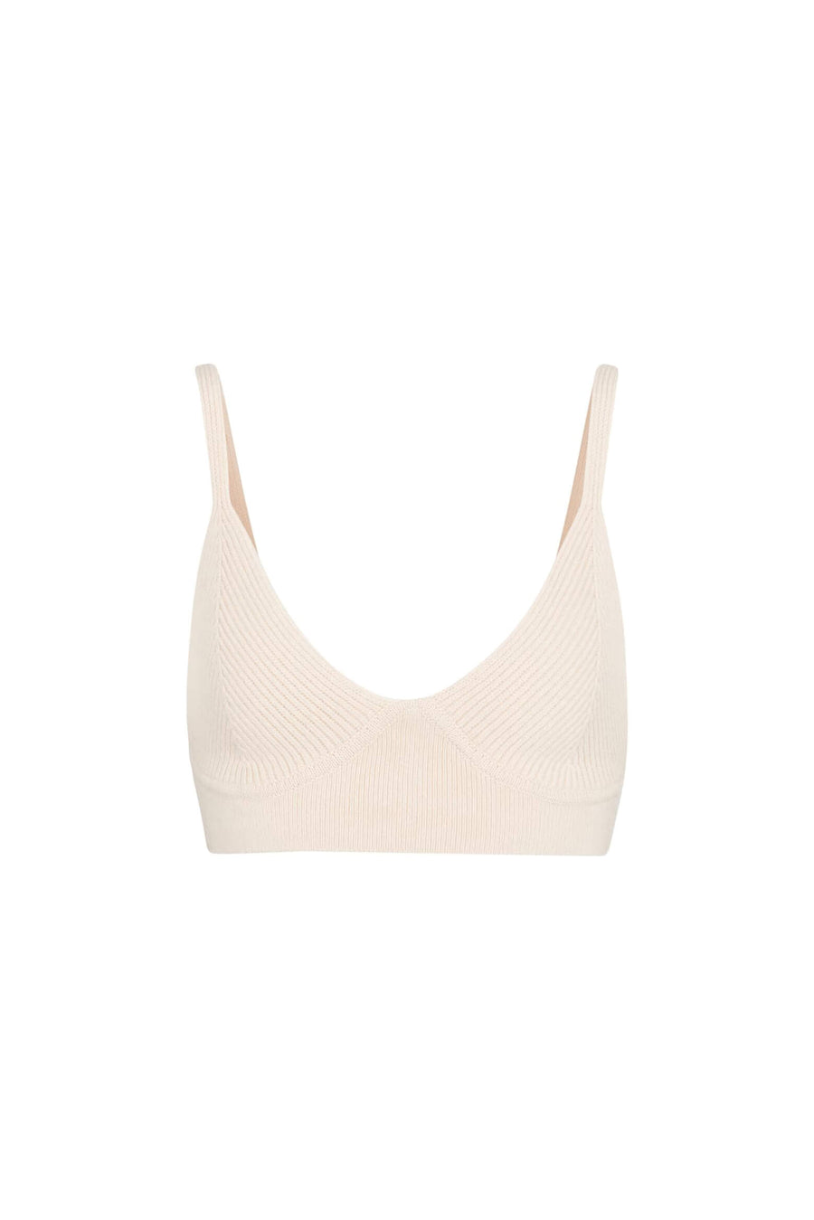 Jonathan Simkhai Aeris Loungewear Bra in Ecru from The New Trend