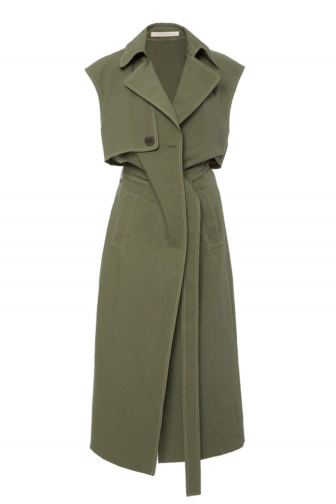 Jonathan Simkhai Alena Sleeveless Trench Dress from The New Trend