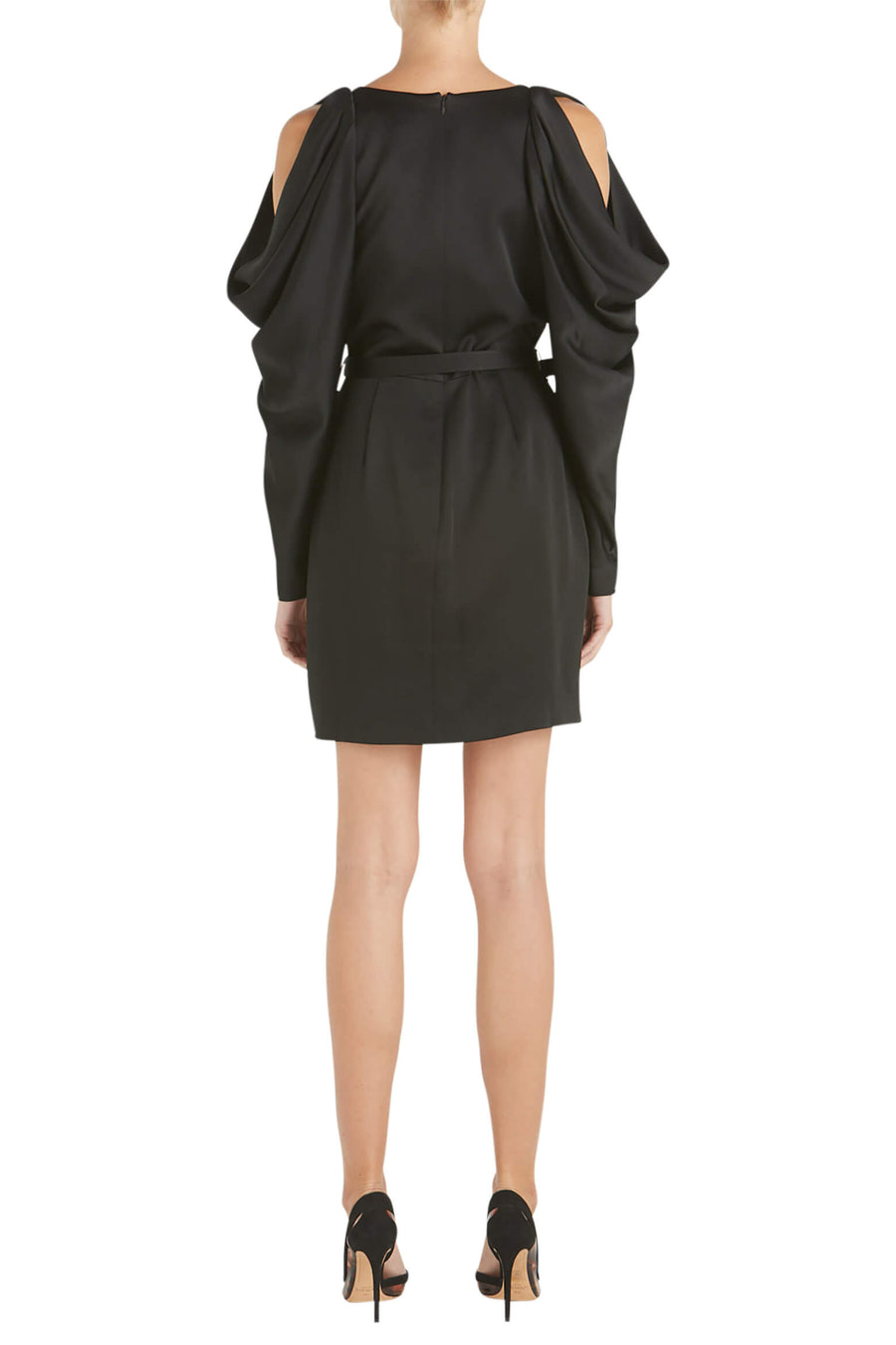Jonathan Simkhai Classic Woven Plunge Mini Dress in Black from The New Trend