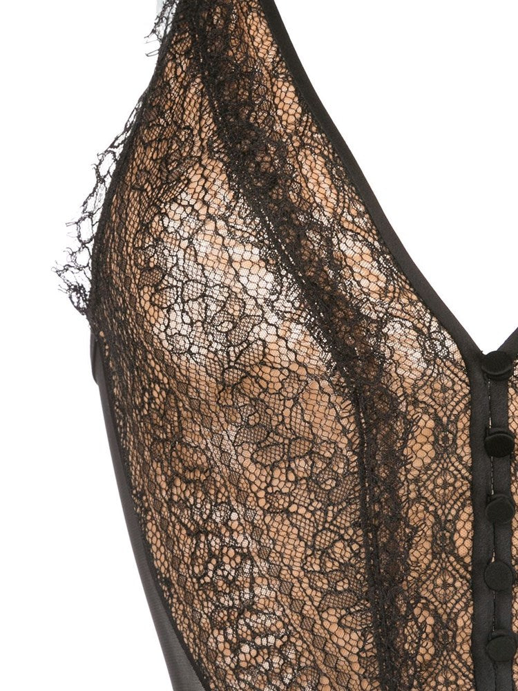 Jonathan Simkhai Deep V Lace Bodysuit from The New Trend