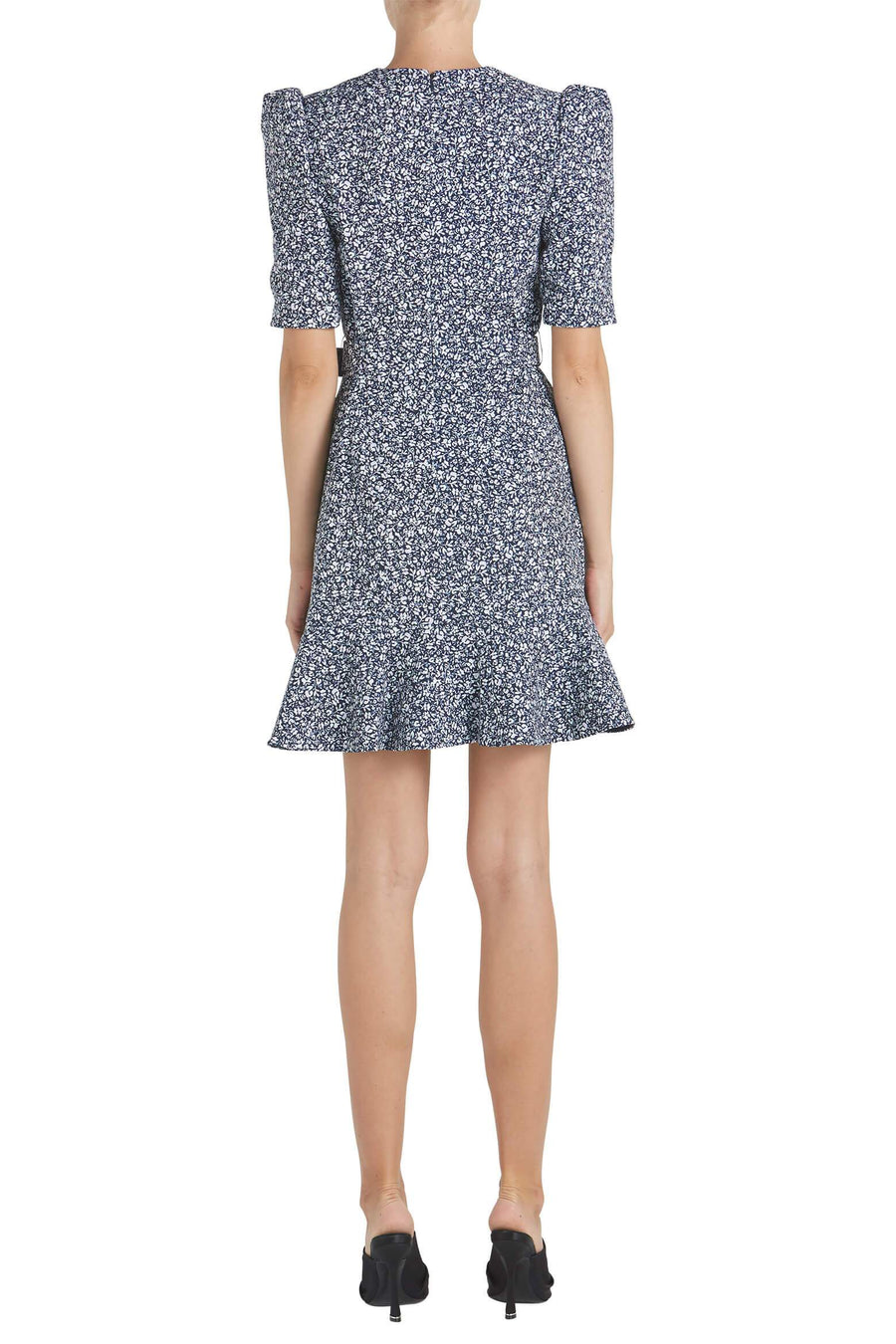 Jonathan Simkhai Evelyn Floral Crepe Dress in Midnight from The New Trend