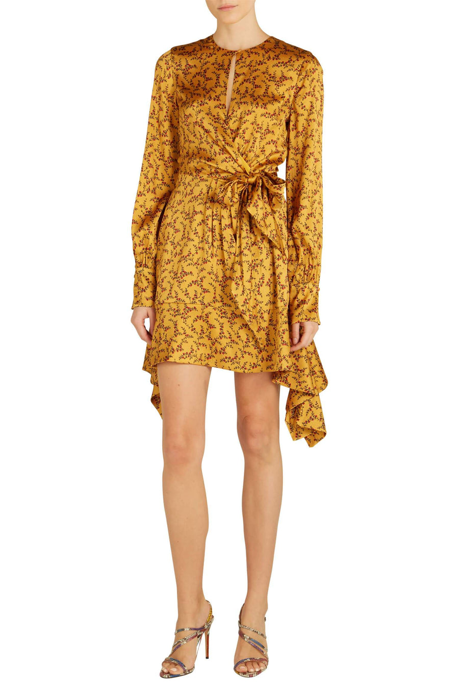 Jonathan Simkhai Hammered Silk Keyhole Dress from The New Trend
