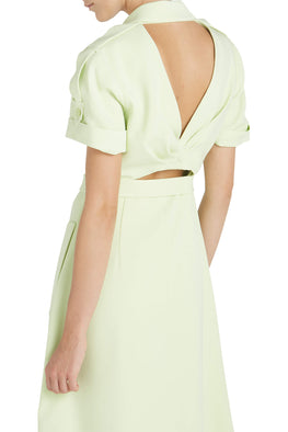 Jonathan Simkhai Helena Crepe Dress in Pear from The New Trend
