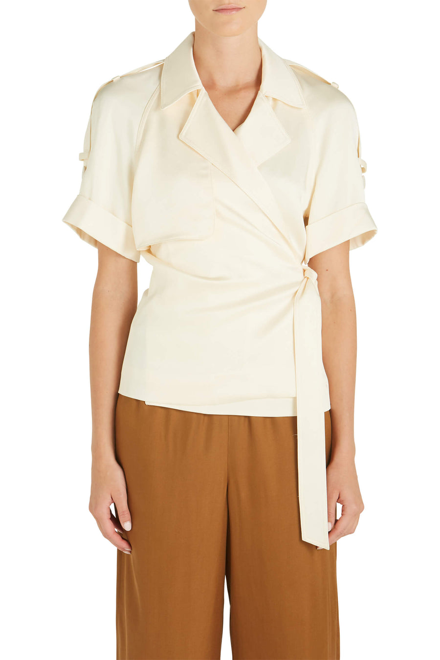 Kelsey Fluid Satin Top by Jonathan Simkhai at The New trend