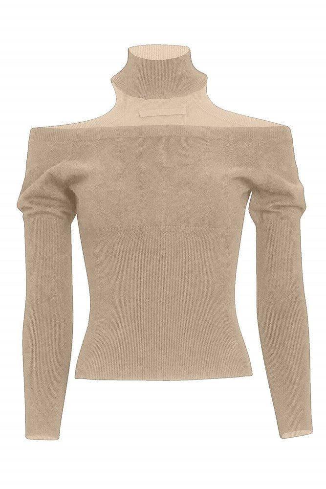 Jonathan Simkhai Madison Cutout Top in Camel from The New Trend