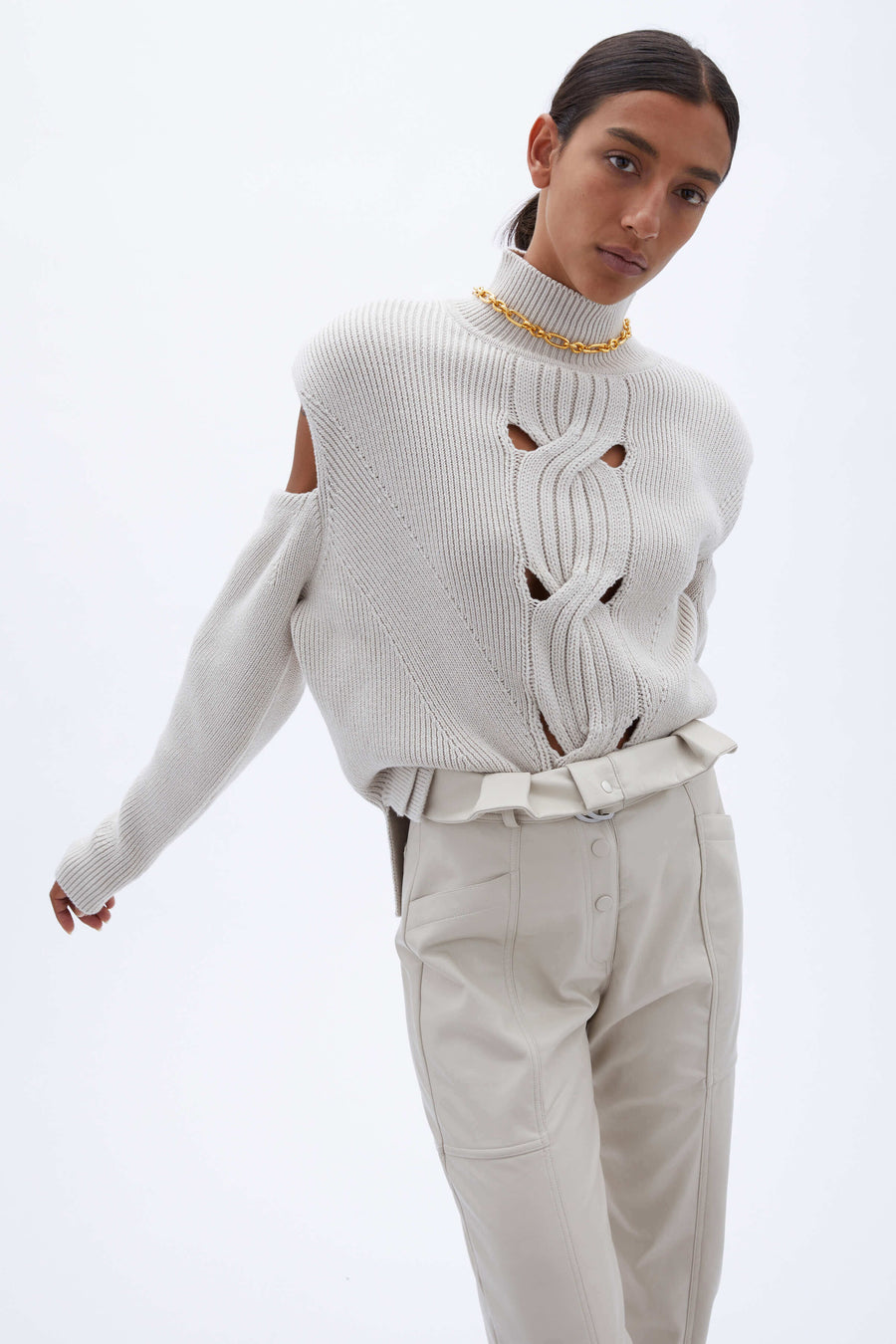 Jonathan Simkhai Porter Open Cable Pullover Sweater from The New Trend