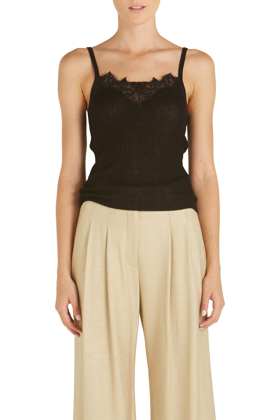 Rylee Cashmere Lace Tank by Jonathan Simkhai from The New Trend