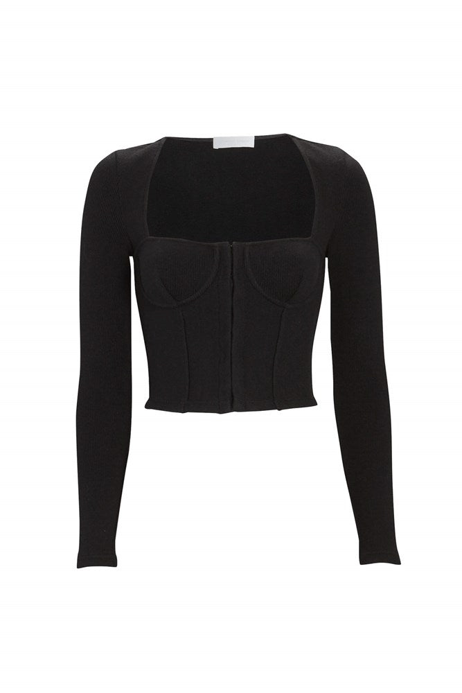 Jonathan Simkhai Standard Bustier Top in Black from The New Trend