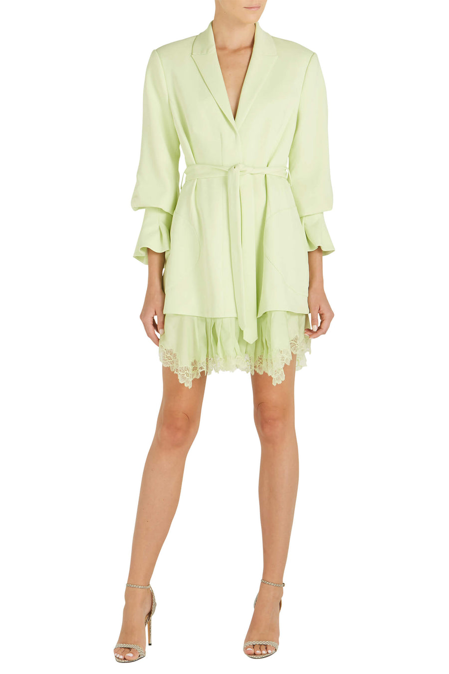 Jonathan Simkhai Victoria Crepe Dress in Pear at The New Trend