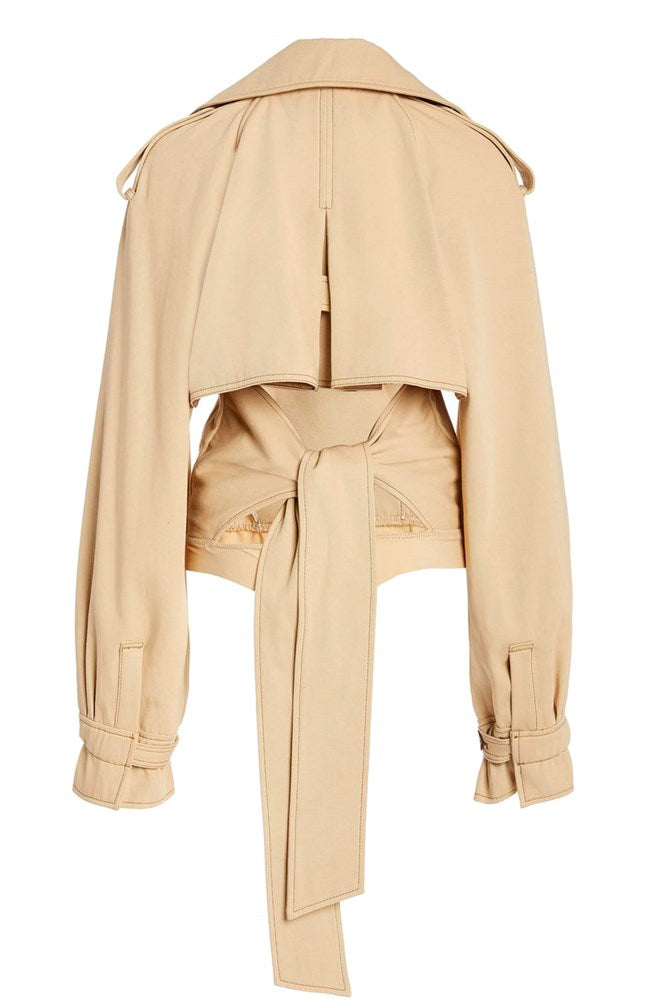 Jonathan Simkhai Fiona Trench Bodysuit in Sahara from The New Trend