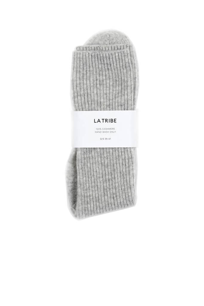 La Tribe Cashmere Bed Sock in Grey Marle from The New Trend