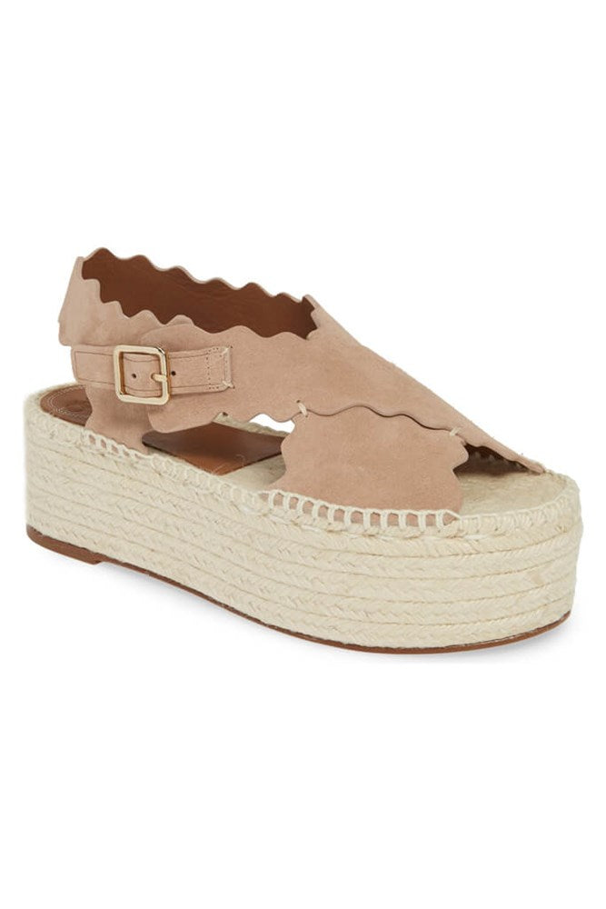 Chloe Lauren Suede Espadrille in Maple Pink Suede from The New Trend